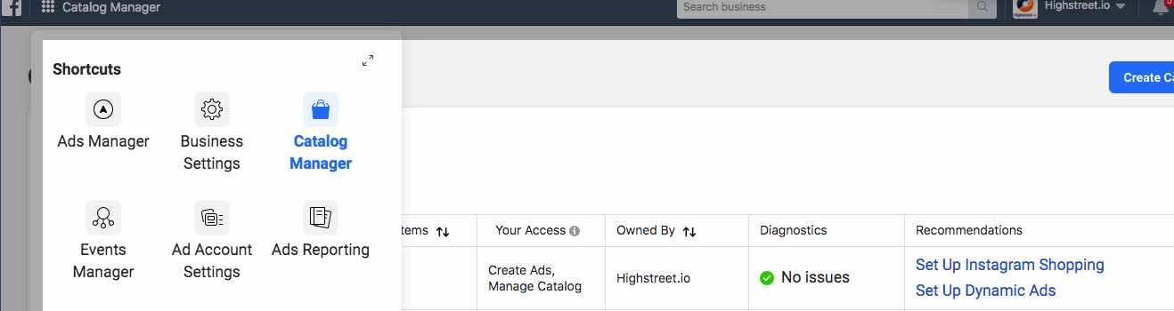 Create a Facebook Catalog