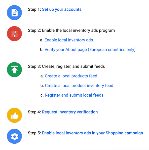 Google Local Inventory Ads Implementation Steps